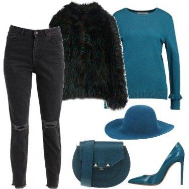 Outfit Dettagli color petrolio