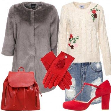 Outfit Con i guanti rossi