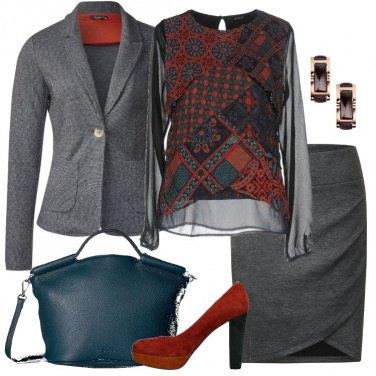 Outfit La blusa in fantasia cachemire