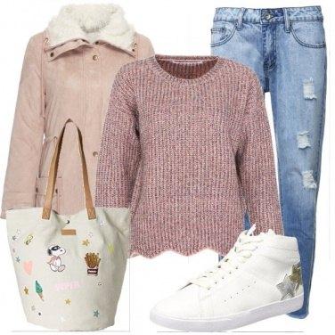 Outfit Snoopy sulla borsa