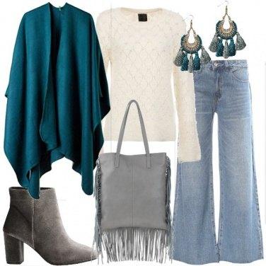 Outfit Mantella petrolio