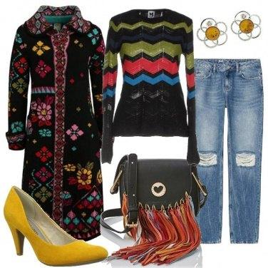 Outfit Il cappotto di maglia