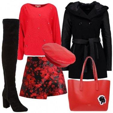 Outfit Un fiore rosso