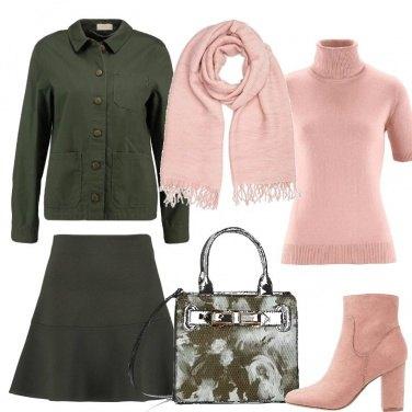 Outfit Rosa e bosco