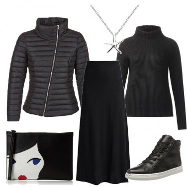 Outfit Nero in lungo