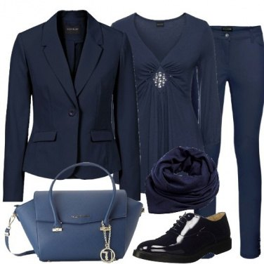 Outfit Blu business