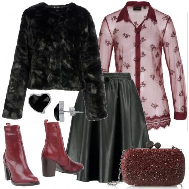 Outfit San Valentino rock