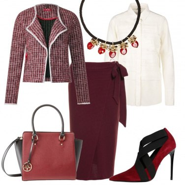 Outfit Chic in rosso