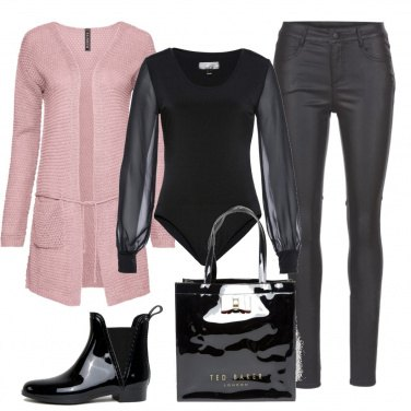 Outfit Nero lucido