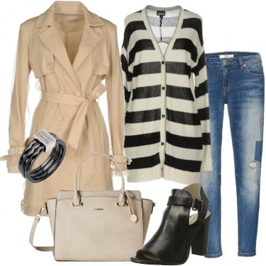 Outfit Trench con tulle
