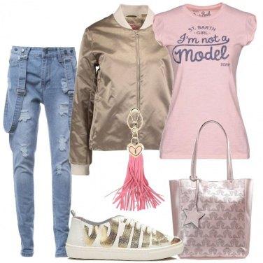 Outfit Il jeans con bretelle
