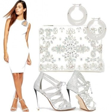 Outfit Silver and white