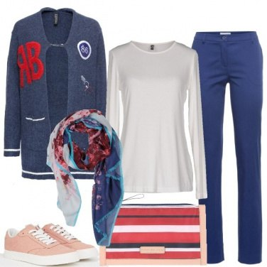 Outfit Cardigan e sneakers