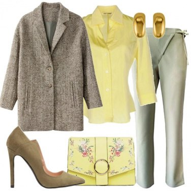 Outfit Cappotto misto lana chiné