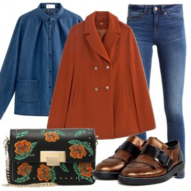 Outfit Mantella terracotta