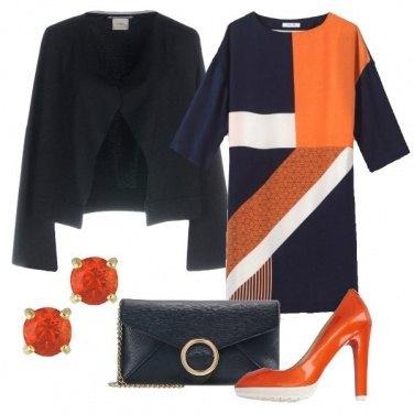 Outfit Arancio e geometrie
