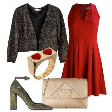 Outfit Rosso e cuori