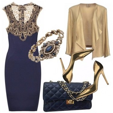 Outfit Gold and blue