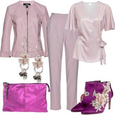 Outfit Anticipazioni in glicine