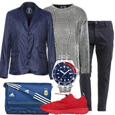 Outfit Maglione nero in fantasia