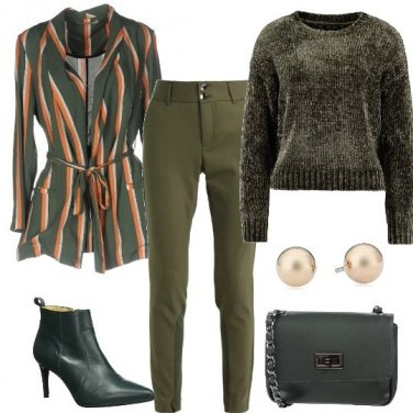 Outfit La giacca a righe
