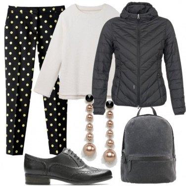 Outfit Pantaloni a pois