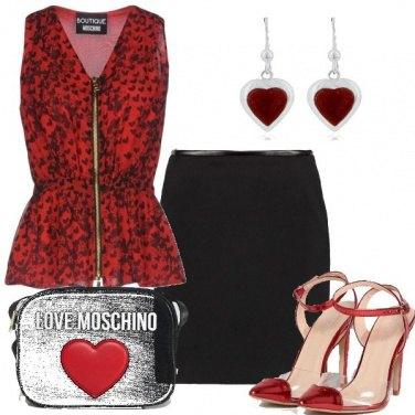 Outfit Cuori e amore