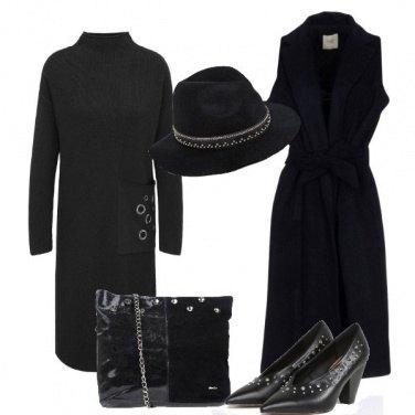 Outfit In nero con le borchie
