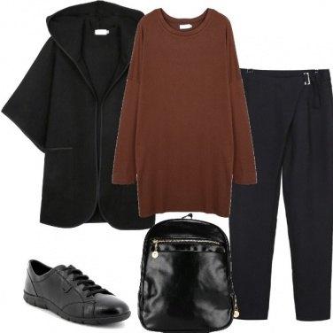 Outfit La felpa marrone
