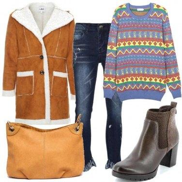 Outfit Il pullover multicolore
