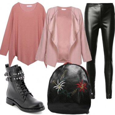 Outfit Contrasto tra stile e colore