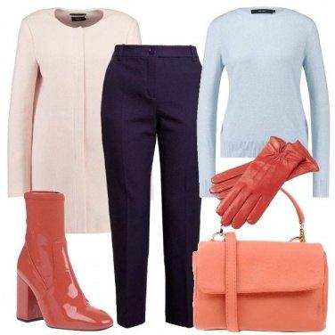 Outfit Tinte pastello e linee semplici