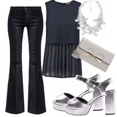 Outfit Il jeans che va a cena