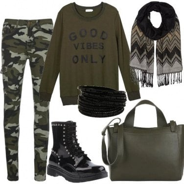 Outfit Jeans camouflage