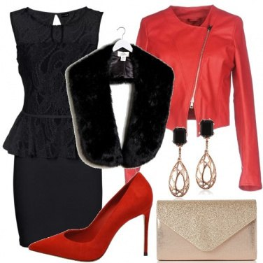 Outfit serata speciale in rosso