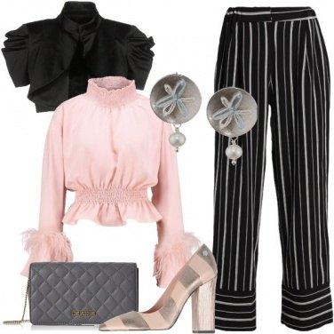 Outfit Serata a righe