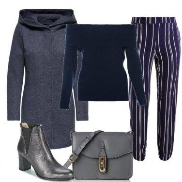 Outfit Pantalone gessato