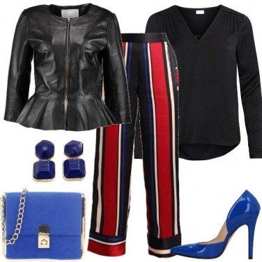 Outfit Pantaloni palazzo a righe