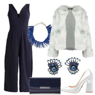 Outfit Con la pelliccia bianca