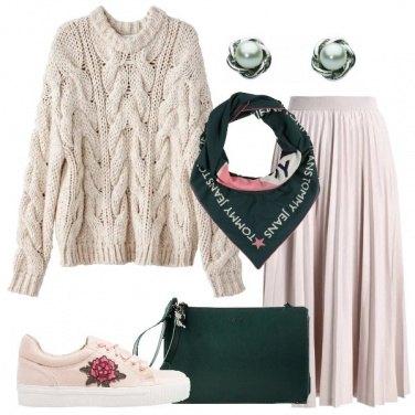 Outfit Il pull a maglia grossa