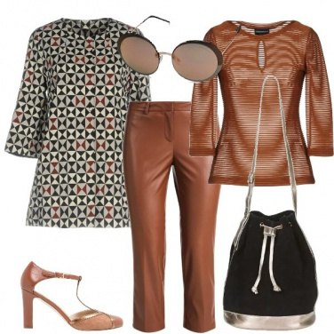 Outfit Il cappotto a motivi geometrici