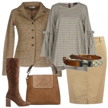 Outfit La blusa in flanella a quadretti