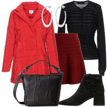 Outfit Giubbino rosso