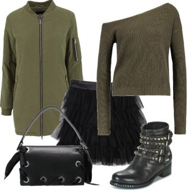 Outfit Bomber e tulle