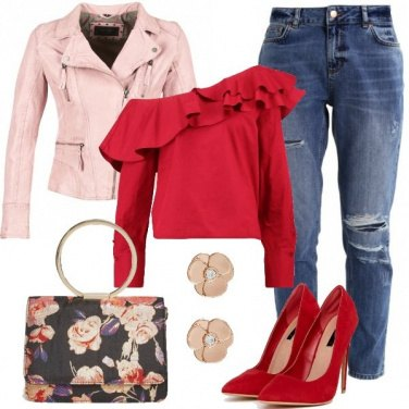Outfit Splendida in rosso