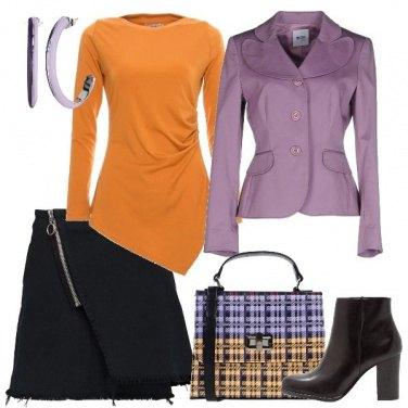 Outfit La giacca lilla