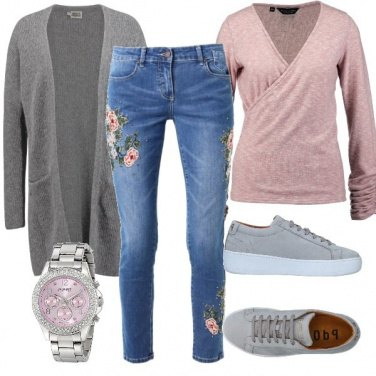 Outfit Quei jeans a fiori
