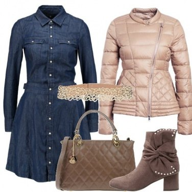 Outfit Jeans raffinato