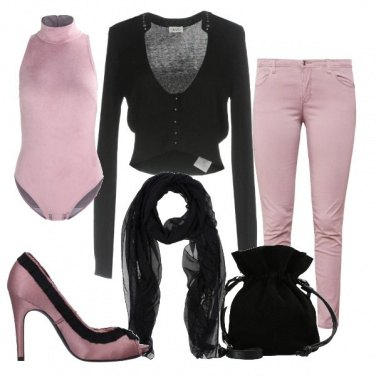 Outfit Il body rosa