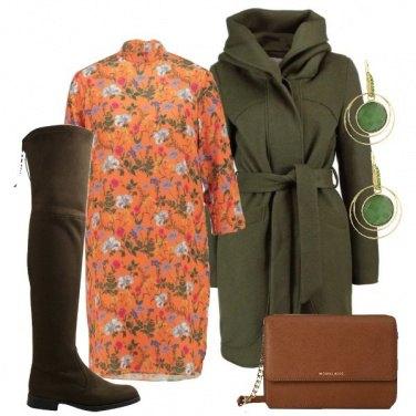 Outfit Arancione e verde